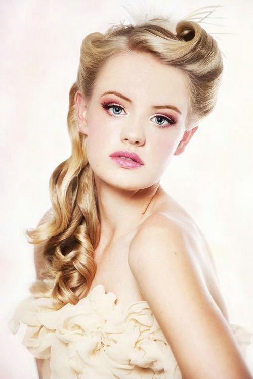 bridesmaid hairstyles for long hair pinterest