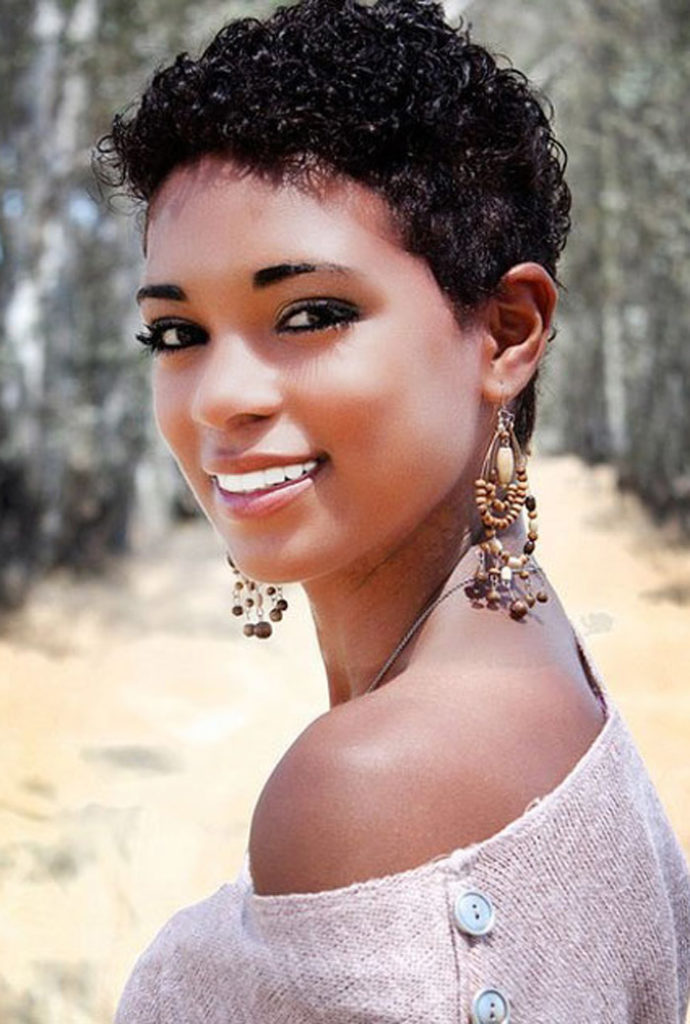 Short Black Haircuts Women 50