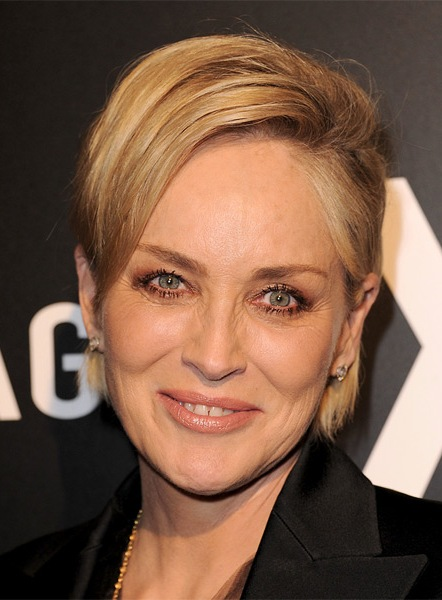 sharon-stone-short-straight-hairstyle