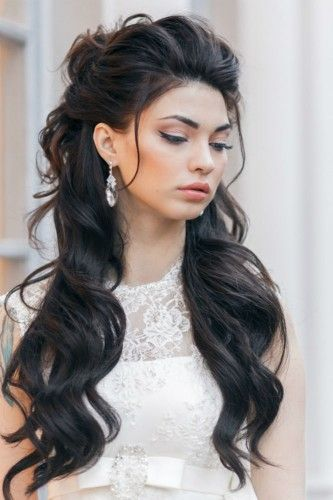 long-black-wedding-hairstyle