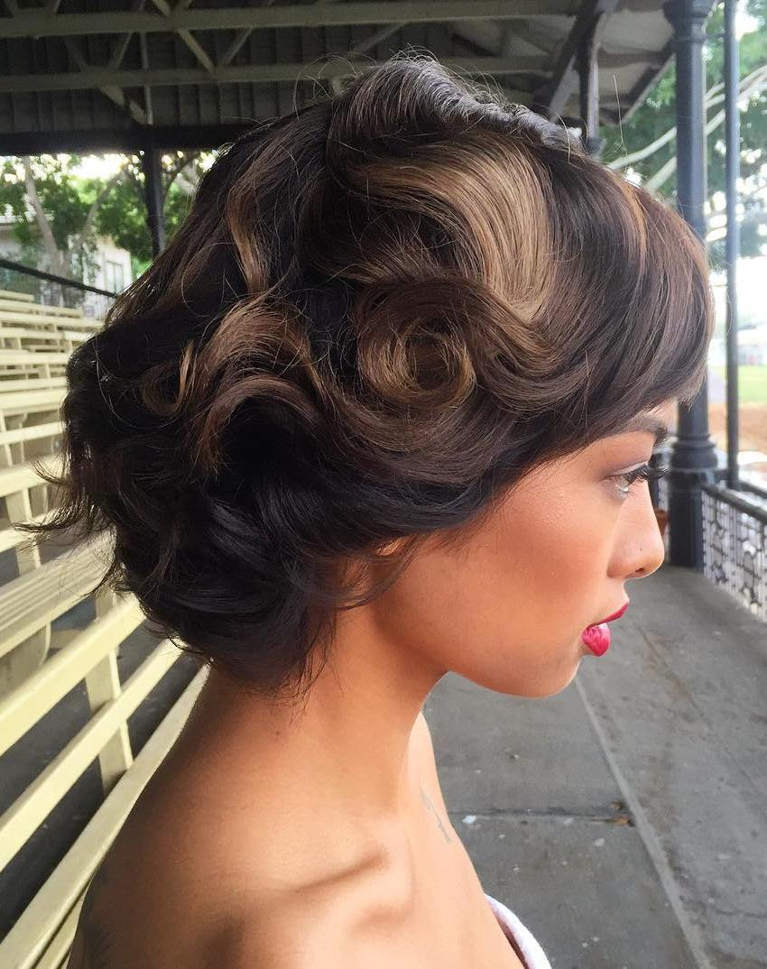 Retro Wedding Hairstyle for Short Hair