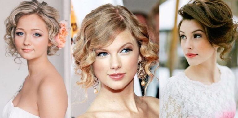 Trendy Short Hairstyle for Wedding