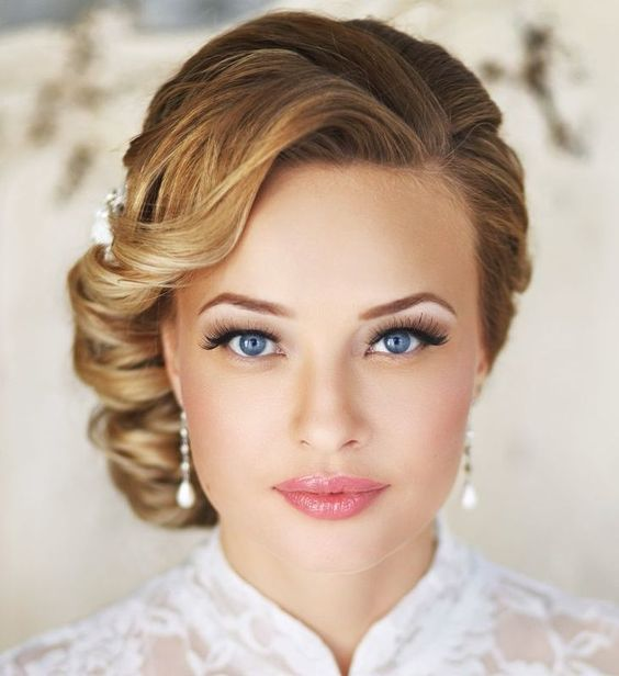 Wedding Updo for Short Hair