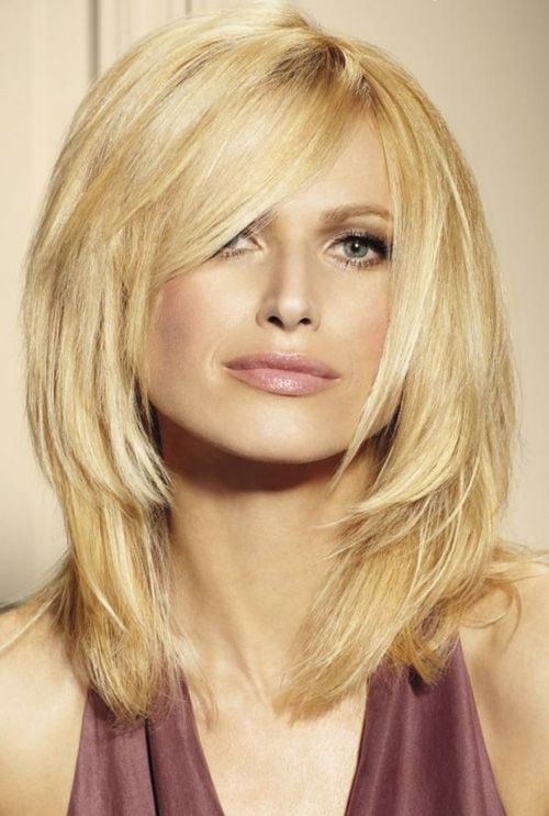Blonde Layered Haircut for Medium Hair