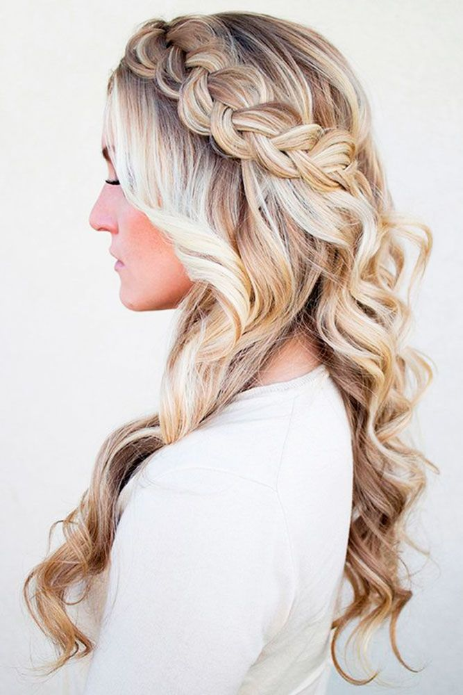 Curled Hair with Braid