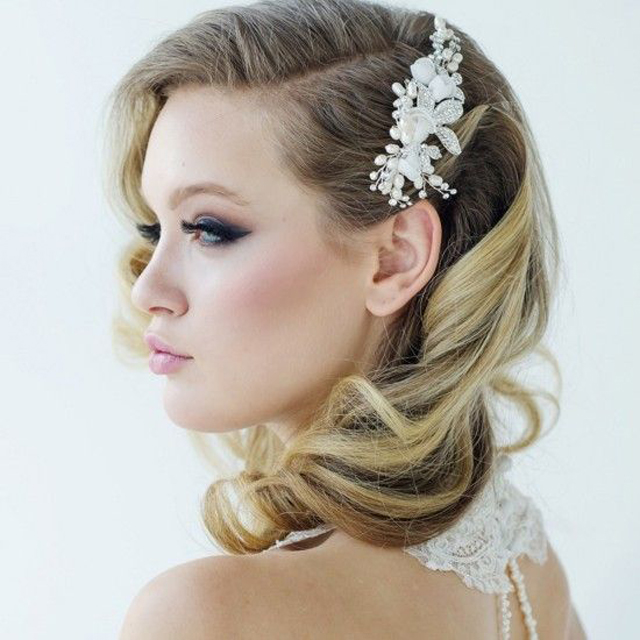 1716b0666d5 25 Classic and Beautiful Vintage Wedding Hairstyles - Haircuts ...