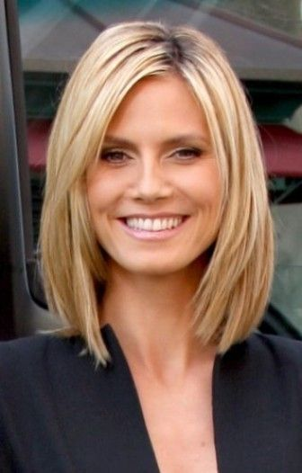 Heidi Klum's Medium Blonde Hairstyle