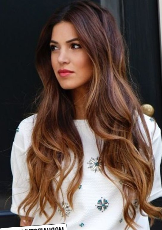 Long Hairstyle with Tiger Eye Shade
