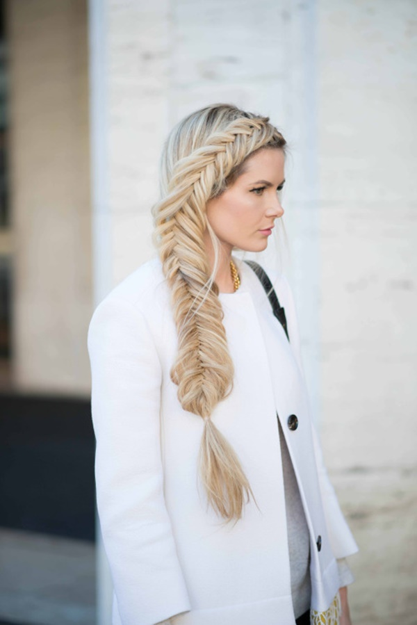 Side Fishtail Braids Ponytail