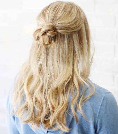 Creative Half Up Knot