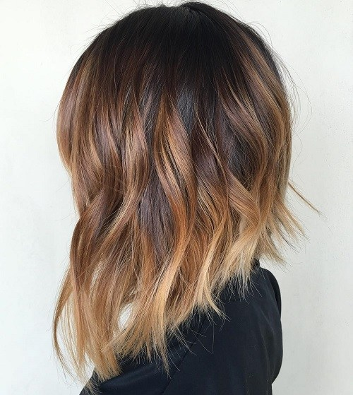 Wavy Tri-Toned Highlighted Bob