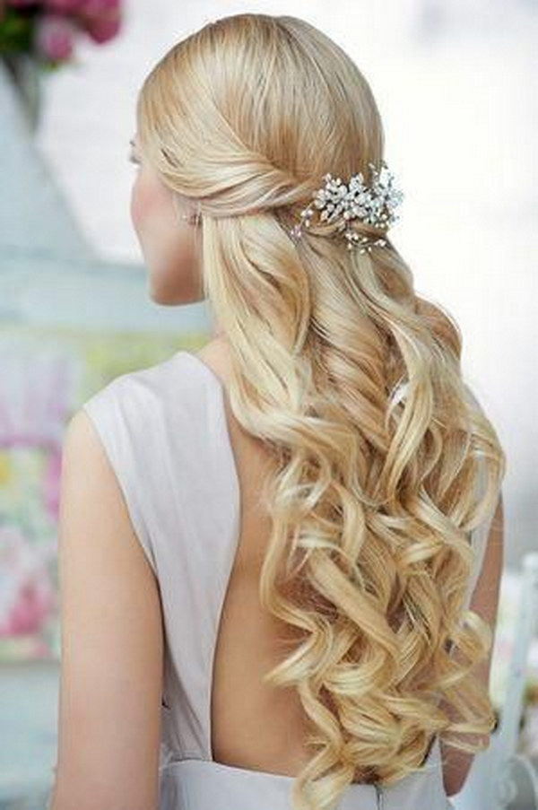 Half Up Half Down Hairstyle with Accessories