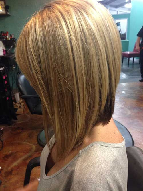 Blond Rounded Bob