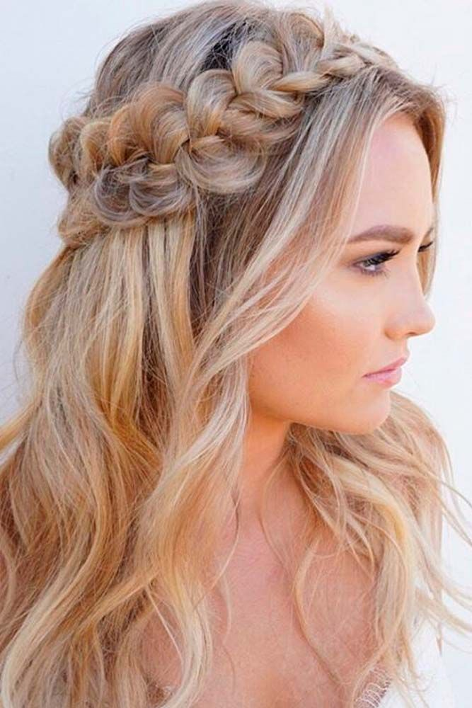 Braided Half Up Half Down Hairstyle