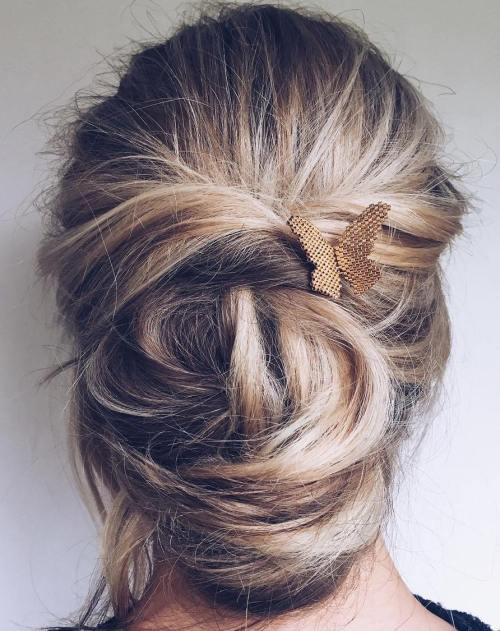 Twin – Toned Twisted Updo