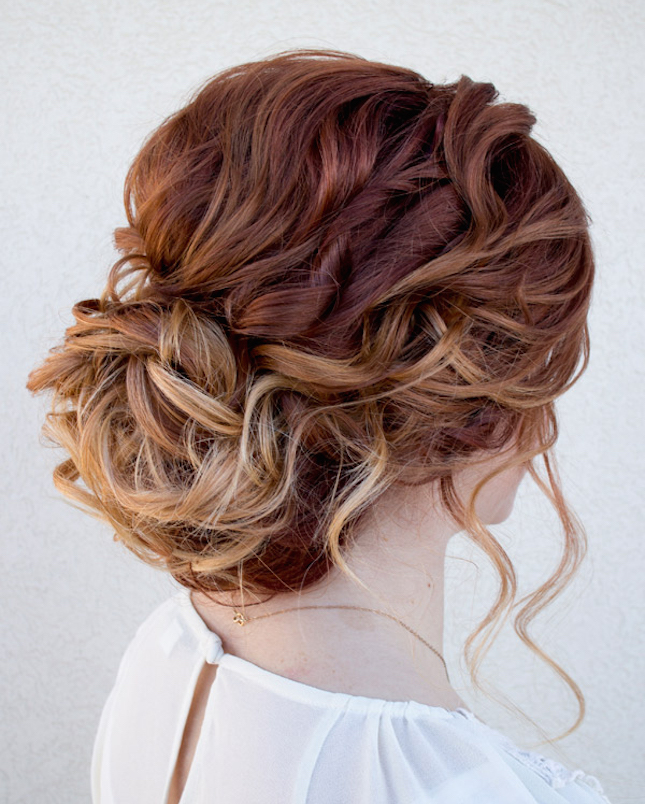 Curly Low Updo