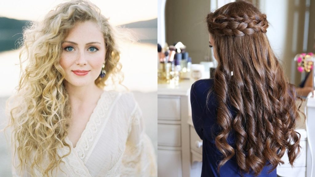 18 Creative And Unique Wedding Hairstyles For Long Hair: 25 Most Elegant Looking Curly Wedding Hairstyles