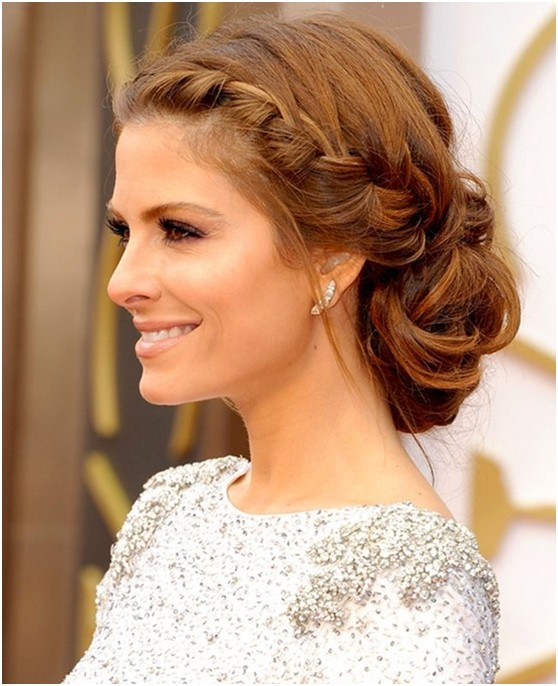 Side French Braid Low Bun