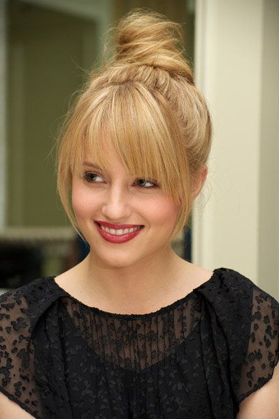 Top Knot with bangs