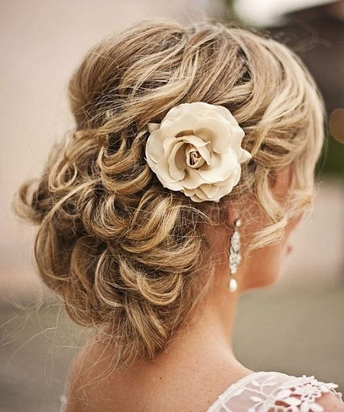 Updo with a Rose