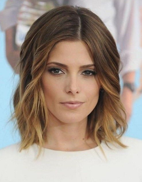 Ashley Greene Mid Length Ombre Hair
