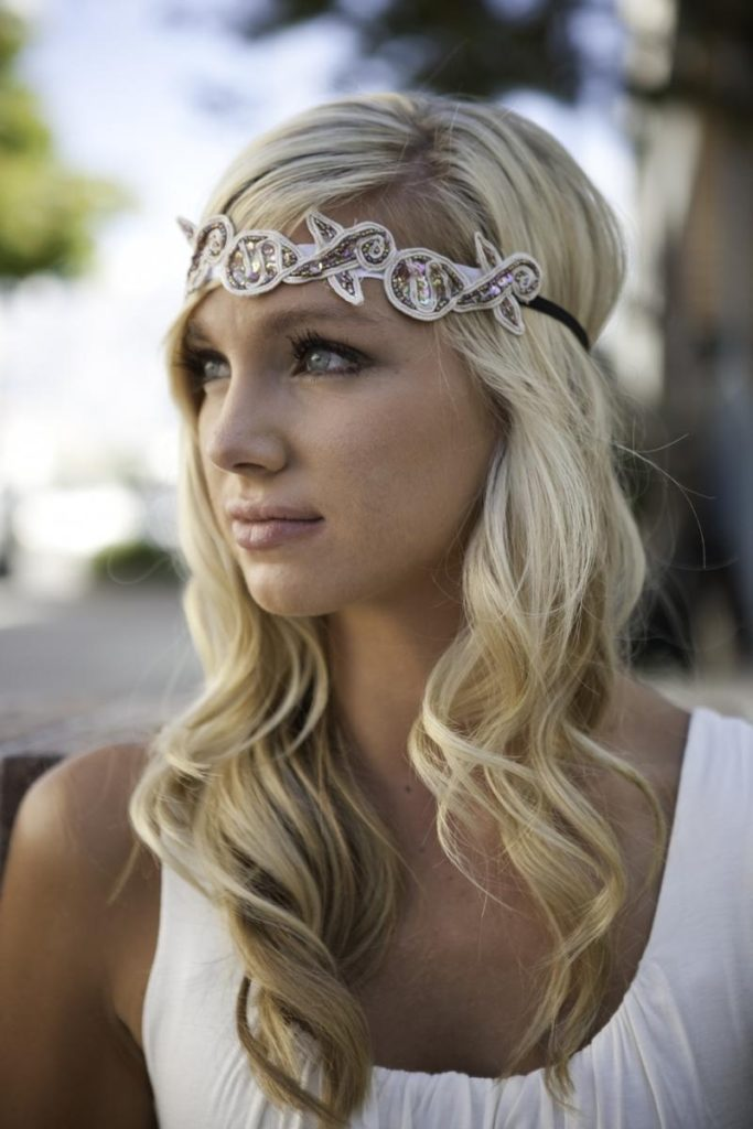 25 Most Coolest Wedding Hairstyles with Headband - Haircuts ... c1ddff728bb