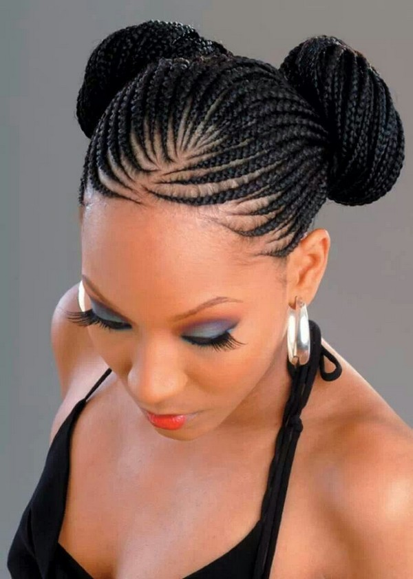 Black Braided Bun Hairstyle
