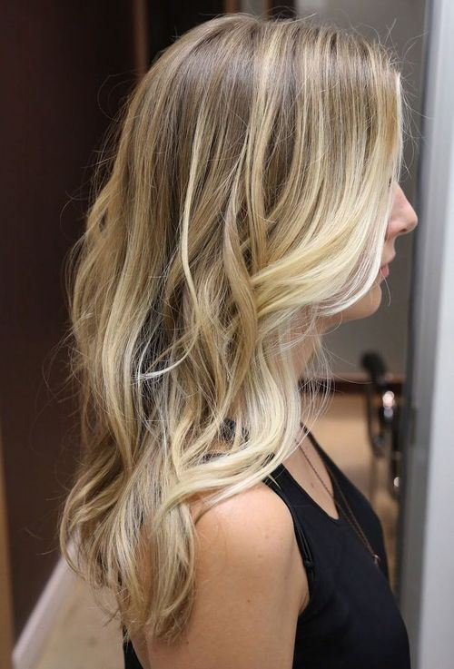 Blonde Balayage Wavy Hair
