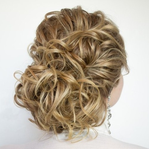 Curly Prom Updo for Long Hair