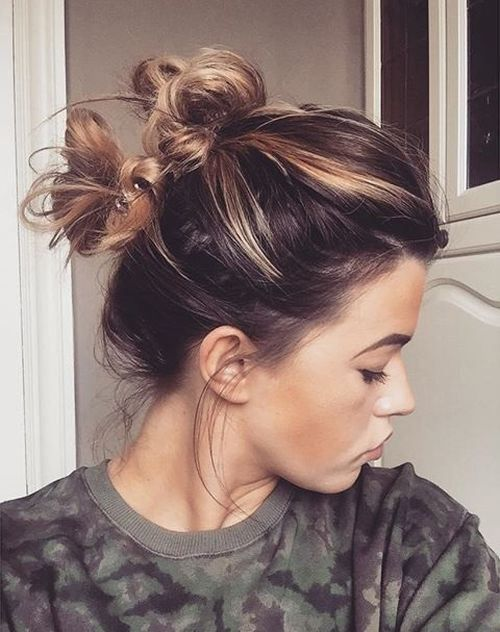 Double Knot Messy Updo
