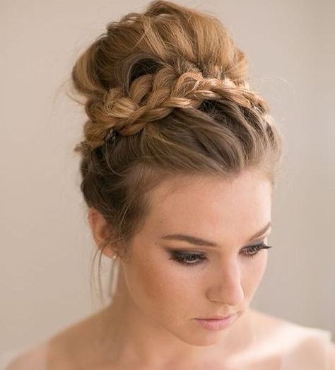 Jumbo Bun with Braided Headband