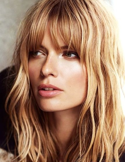 Layered Hairstyles with Short Bangs