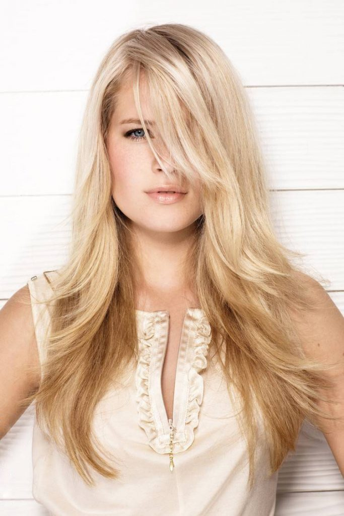 Light Blonde Long Hair with Layers