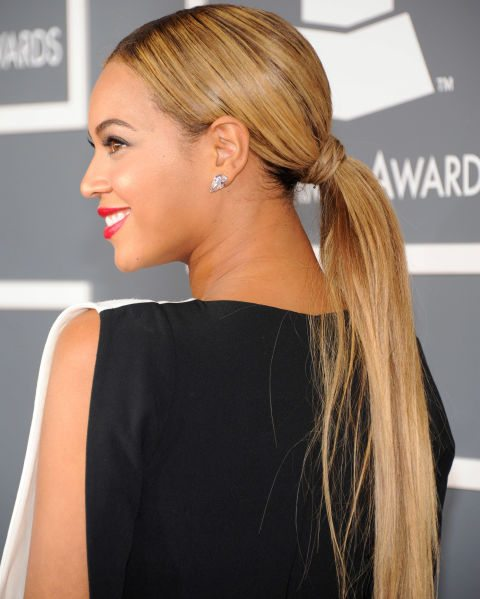 Long Sleek Wrapped Ponytail