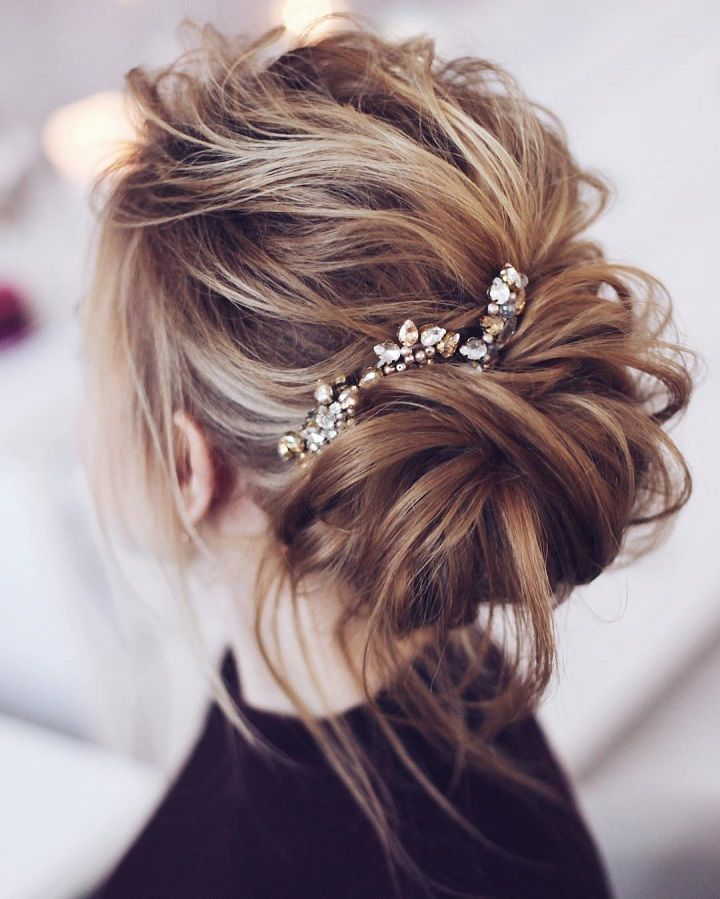 Loose Messy Bridal Updo