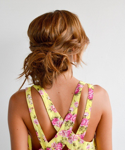 Messy Loose Low Bun