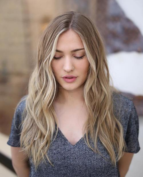 Middle Parted Beachy Waves