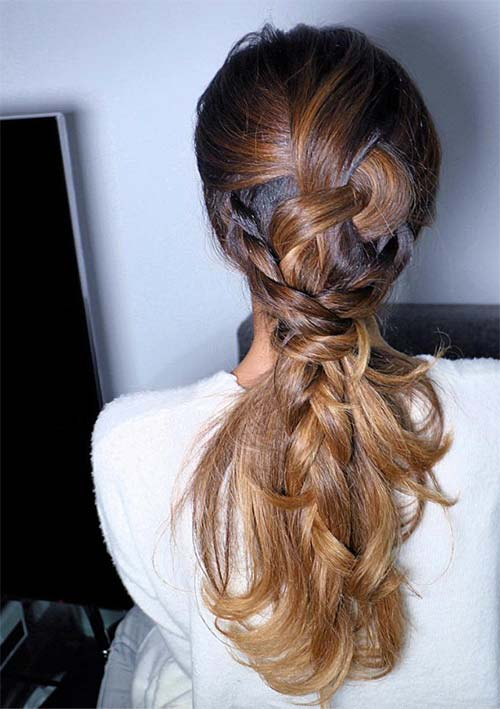Pulled Back Braid in Braid