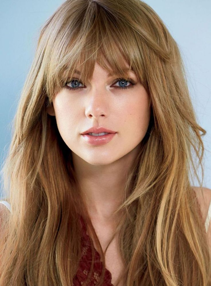 32 glamorous long haircuts with bangs for women
