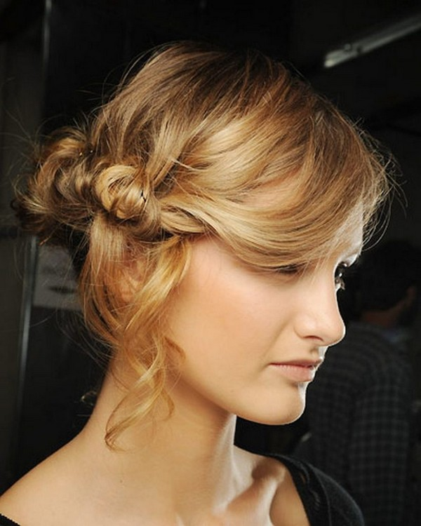 Twisted Messy Updo with Bobby Pins