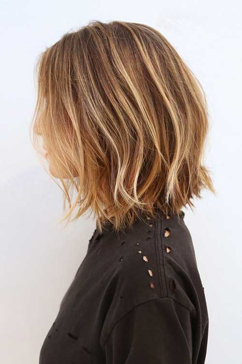 Blonde Balayage Layered Lob