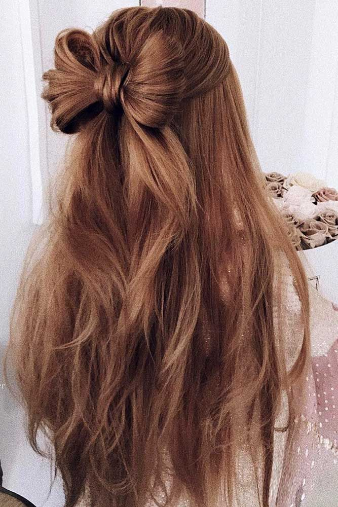 Bow Twisted Long Hair