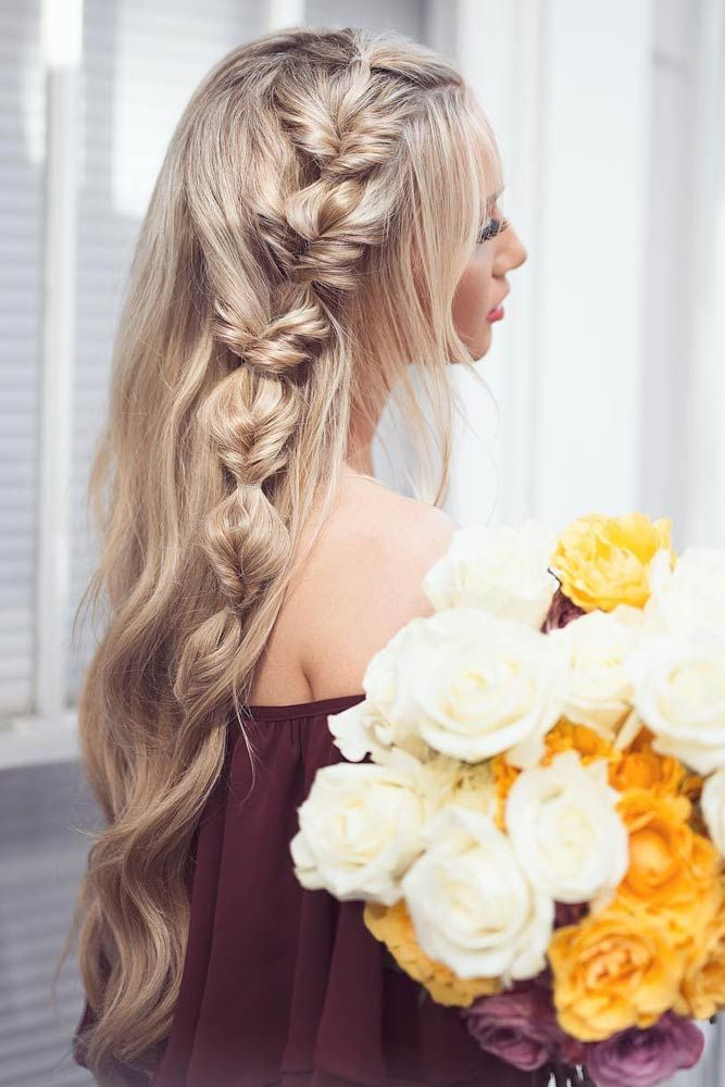 Braided Long Wavy Hair
