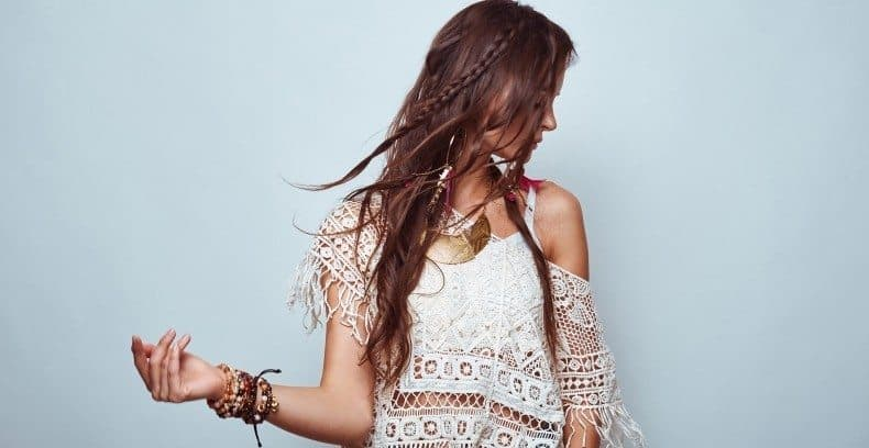 Single Braided Long Messy Hairstyle