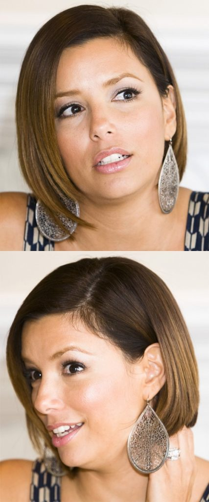 Side Swept Straight Bob Haircut