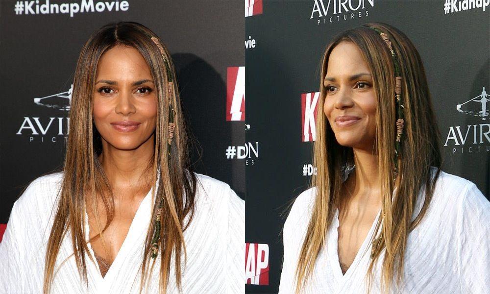 Medium Brunette Long Straight Hair