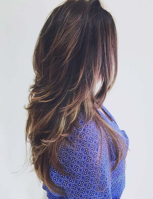 Long Hairstyle with Feathered Layers