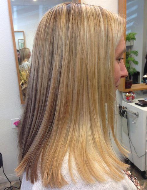 Edgy Medium Blonde Straight Haircut