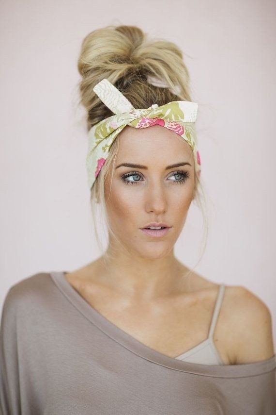 Bandana with Updo Hairstyle