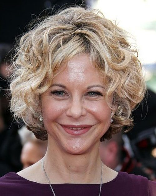 Blonde Curly Bob Hairstyle